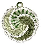 The Picasso potholder.  Easily made from three crocheted strips that are then simply stitched together!  Love the movement, texture and color possibilities!