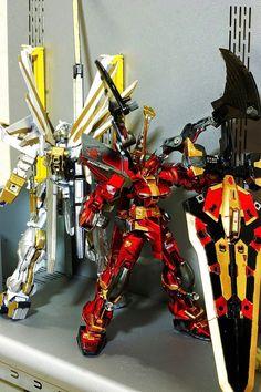"Custom Build: 1/100 Gundam Astray Blue Frame Second L ""Red Devil"" - Gundam Kits Collection News and Reviews Astray Red Frame, Gundam Astray, Custom Gundam, Gundam Model, Custom Decals, Godzilla, Robots, Devil, Color Schemes"