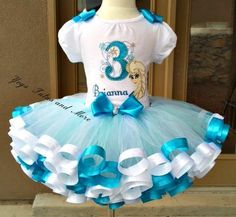 Frozen Tutu set ( Ana and Elsa) Birthday Tutu Set ~ Ribbon Trim Tutu & Hair Bow ~ Customize in Any Colors of Your Preference Frozen Birthday Outfit, Elsa Birthday, Disney Frozen Birthday, Birthday Parties, Frozen Tutu, Frozen Dress, Frozen Party, Disney Princess Tutu, Pink Princess