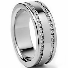 7MM Ladies Titanium Eternity Engagement Band, Wedding Ring With Cubic Zirconia -        Genuine TitaniumComfort FitGrade AAAAA Quality Cubic ZirconiaComes with a FREE Ring Box!!30-Day Money Back Guarantee  This beautiful ring is 7MM in width. It is h