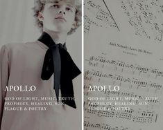 apollo (Ἀπόλλων) - greek god of light, music, truth, prophec Greek And Roman Mythology, Greek Gods And Goddesses, Greek God Of Light, Apollo Greek, Aesthetic Names, Goddess Names, Greek Names, Pretty Names, Roman Gods