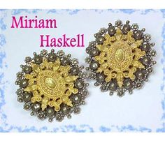 Vintage Miriam Haskell Victorian Silver & Gold Gilt Filigree Large Earrings Vintage Maryland Estate Treasure Vintage Jewelry $125  www.FindMeTreasure.com  CLICK TWICE ON PHOTO TO BUY