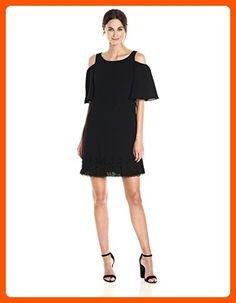 Adrianna Papell Women's Cold Shoulder Dress, Black, 10 - All about women (*Amazon Partner-Link)