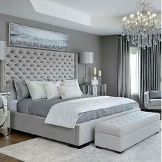 Simple Bedroom Design, Luxury Bedroom Design, Master Bedroom Interior, Modern Master Bedroom, Bedroom Furniture Design, Master Bedroom Design, Home Decor Bedroom, Bedroom Designs, Master Bedroom Decorating Ideas