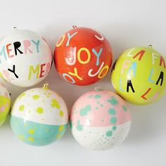 Ampersand Design Studio for holiday decor! Christmas Trends, Christmas Love, Christmas Inspiration, Winter Christmas, Handmade Christmas, Merry Christmas, Xmas Ornaments, Christmas Baubles, Pink Christmas Decorations