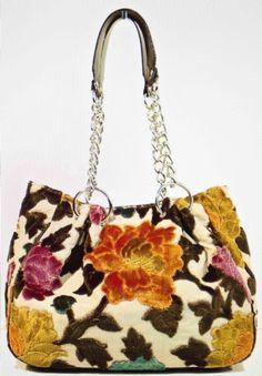 Glenda Gies Handbag Millie In Chenille Peony
