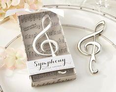 """Symphony"" Chrome Music Note Bottle Opener"