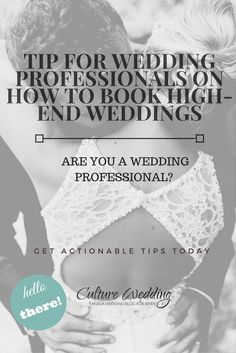 Tip for Wedding Professionals on how to book high-end weddings #blackbrideswed