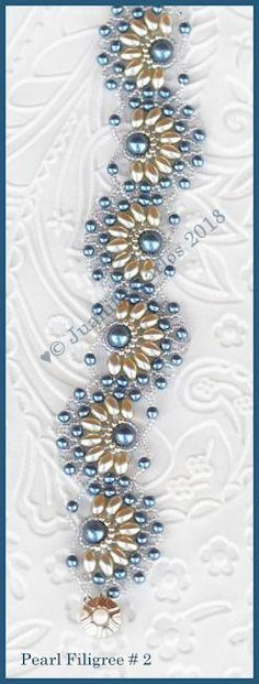 Bead Tutorial - Pearl Filigree # 2 Bracelet - Netting stitch – Bead Patterns by Jaycee