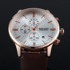 Luxury fashion sport 6 dial quartz leather strap wristwatch for men. Best Sellers, Omega Watch, Watches For Men, Genoa, Mens Fashion, Leather, Dreams, Accessories, Sports