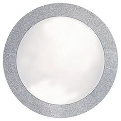 """Creative Converting Glitz Silver Round Placemats with 2"""" Glitter Border, 8 Count"""