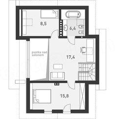 Rzut poddasza projektu Z Widokiem Floor Plans, Mezzanine, Home, Floor Plan Drawing, House Floor Plans