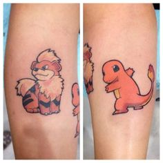 Fire Pokemons - http://www.lovely-tattoo.com/fire-pokemons/