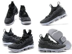 8eb69fda98d 2018 Cheap LeBron 15 Nike XVAshes Black White 897648 002