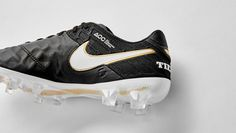"Nike Tiempo 6 ""Black/White/Metallic Gold"""