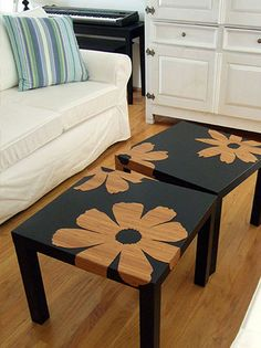 Negative space...great spruce up for boring tables