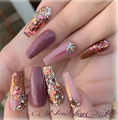 What manicure for what kind of nails? - My Nails Glam Nails, Fancy Nails, Trendy Nails, Pink Nails, Cute Nails, Stylish Nails, My Nails, Blush Nails, Glitter Nails