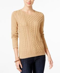 Tommy Hilfiger Carly Cable-Knit Sweater, Only at Macy's