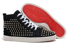christian louboutin replica shoes high quality AAA+ leather shoes men shoes women casual shoes red bottom rivets flats shoes price 82 dollars european size 36-46 with dust bag and shoebox