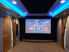 Blue LED Strip lighting in a home theater Shop LED Lights now: www.Leddistributors.net
