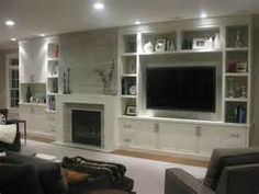 TV wall decor love the built in   House ideas   Pinterest