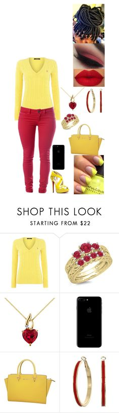 """""""Untitled #2829"""" by alize-roshaun-sims ❤ liked on Polyvore featuring Polo Ralph Lauren, Victoria's Secret, Michael Kors and GUESS"""