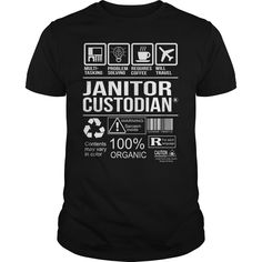 Awesome Tee For Janitor Custodian T-Shirts, Hoodies. CHECK PRICE ==► https://www.sunfrog.com/LifeStyle/Awesome-Tee-For-Janitor-Custodian-105339814-Black-Guys.html?id=41382