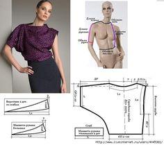 блузы+выкройки