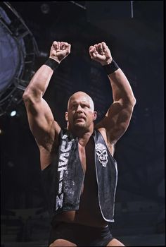 """WWE Hall of Famer and pop culture icon """"Stone Cold"""" Steve Austin created some of the most memorable catchphrases in history, including one t. Wwe Steve Austin, Austin Wwe, Stone Cold Austin, Stone Cold Steve, Wrestling Stars, Wrestling Wwe, Wwe Raw And Smackdown, Shawn Michaels, Wrestling Superstars"""