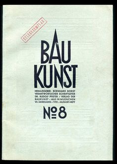 BauKunst. Reminds me of an example my professor showed me for a design project I had last year.