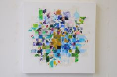 paper weaving - use one of the kids paintings from when they were little