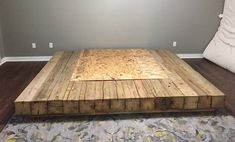 The epic Barn Beam bed frame! Pallet Bed Frames, Diy Bed Frame, Pallet Beds, Bed Frame Design, Bed Design, Diy Platform Bed Frame, Home Furniture, Furniture Design, Furniture Vintage
