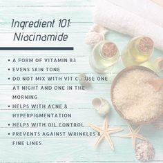 Have you heard of niacinamide? It's one of our current favorite skincare ingredients. Leave your tips, tricks and questions down below 👇 Skin Care Regimen, Skin Care Tips, Paula's Choice Resist, Acne Solutions, Best Skincare Products, Uneven Skin Tone, This Or That Questions, Summertime, Beauty