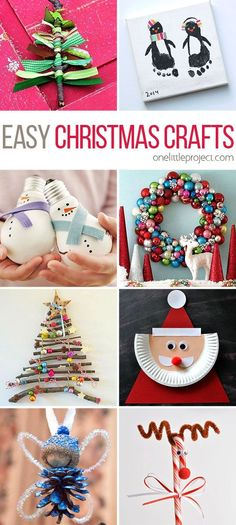 This list of easy Christmas Crafts has you covered! Whether you're looking for kids crafts or grown up crafts, there are tons of AWESOME project ideas!