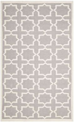 Safavieh Dhurries DHU549 Grey Ivory Rug | Contemporary Rugs