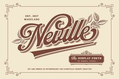 Neville Font by Runsell Studio on @creativemarket