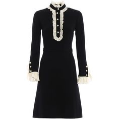 Gucci Dresses featuring polyvore, women's fashion, clothing, dresses, gucci, viscose dress, gucci dresses, rayon dress and bow dress