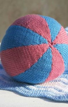Ball for Baby Free Knitting Pattern from Red Heart Yarns