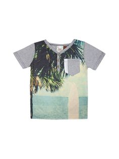 Subliminal Beach Print Henley from Fore!! Axel & Hudson on Gilt