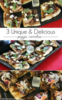 Make all three pizza combos for a night of entertaining or choose just one for a family dinner.