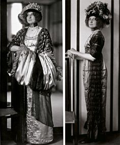 Emilie Flöge, Klimt's model, in an Art Nouveau Style Dress c. 1910