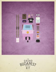 Movies Hipster Kits by Alizée Lafon, via Behance, Hipster Graphics for Grand Budapest Hotel, Little Miss Sunshine, Game of Thrones, Drive, OSS 117 & Breaking Bad.