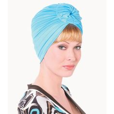 Soft Ribbed Turban - Availabe in Light Blue, White, Black, Beige, Pink, Navy, Turquoise, Brown  A wonderfully wearable turban. Supremely soft and comfortable. 100% polyester.   Made in the USA. Find this style & more @ thewigcompany.com