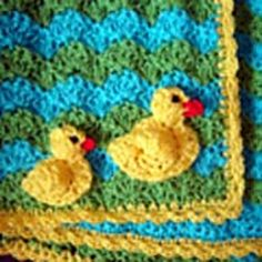 Duck Baby Blanket and Applique by JTcreations via Ravelry. PDF SAVED.
