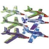 12 Jet Fighter Gliders Military Airplanes Planes. Appr. 9.25 Inch. Foam Gliders. Easy to Assemble. Military Style. Assorted Styles as shown in image.
