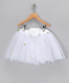Take a look at this White Daisy Tutu - Toddler & Girls  by The Butterfly Grove on #zulily today!