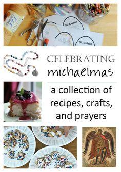 Sept Ideas for Celebrating Michaelmas Catholic Feast Days, Catholic Holidays, Catholic All Year, Saint Feast Days, Catholic Kids, Holy Michael, Saint Michael, Prayer Crafts, Liturgical Seasons