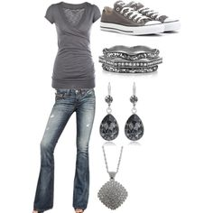 Untitled #76 by bellalaynecullen on Polyvore featuring True Religion, Converse, Belle Noel by Kim Kardashian, Alessi Domenico and Swarovski Crystallized
