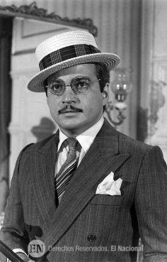 Gustavo Rodríguez como Santos Luzardo en Gómez. 1980 (ARCHIVO EL NACIONAL)