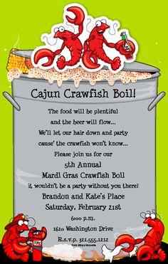 seafood boil invite   shrimp boil invitations image search results